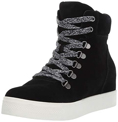 (Steve Madden Women's Catch Wedge Sneaker Black 5.5 M US )