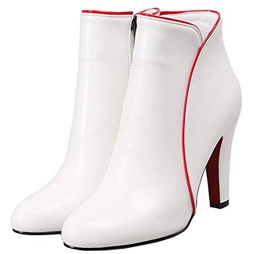 AIYOUMEI Women's Classic Boot White 7R31RBfrLe