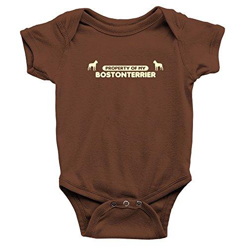Teeburon Property Of My Boston Terrier Baby Bodysuit