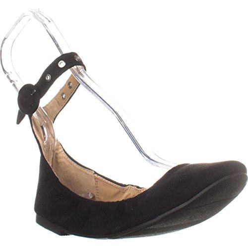 Stivale Balletto Nero In Stoffa Con Fibbia Alla Caviglia Chiusa Da Donna Materiale Materiale