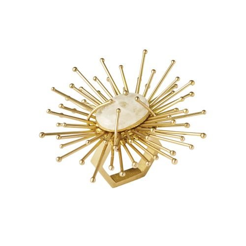 Kim Seybert Flare Napkin Ring In Gold, Set of 4 by Kim Seybert