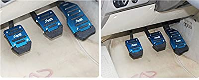Eforcar 3Pcs/set Non-Slip Manual Transmission Car Pedal Cover Brake Clutch Accelerator For Most Cars