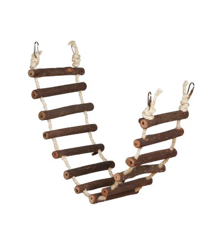 Prevue Hendryx 62807 Naturals Rope Ladder Bird Toy, Large
