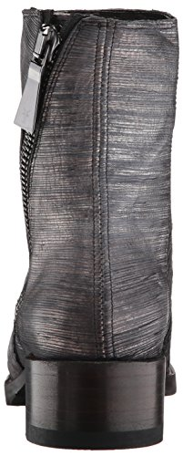 Pewter Women's Boot Zip Cut Metallic FRYE Bootie Demi dwqXxOp