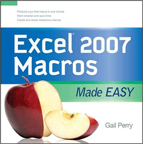 EXCEL 2007 MACROS MADE EASY (Made Easy Series)