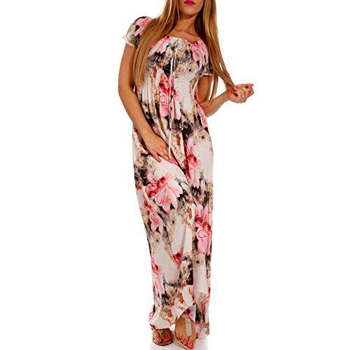 3e737afca9c3 ... Maxi-Kleid Carmen Kurzarm mit Ausschnitt - als Stylisches Strand-Kleid  Oder Party- ...