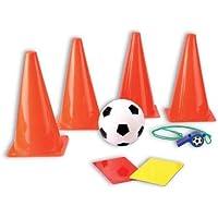 8teiliges Fútbol Conjunto de entrenamiento con Hütchen, fútbol