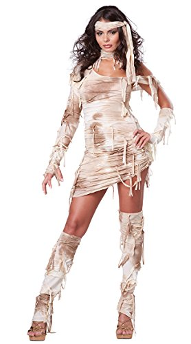 Cute Zombie Halloween Ideas (California Costumes Women's Mystical Mummy Sexy Horror Costume, Tan,)