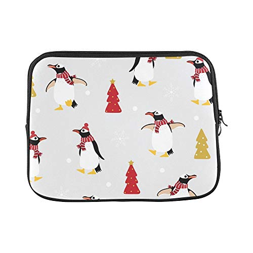Design Custom Cute Penguin Winter Costume Sleeve Soft Laptop Case Bag Pouch Skin for 11