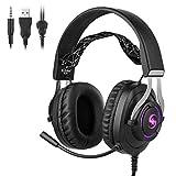 Fancy96 Kubite K10 Headphones Compatible with DJ Headphones Foldable 3.5mm Wired Game Earphones (Black)