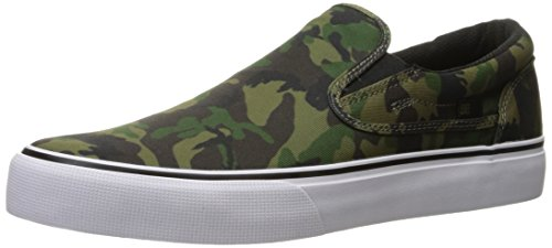 DC Men's Trase Slip-on Sp Skateboarding Shoe, Camo White, 9 D US