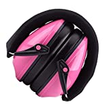 Hmxpls Foldable Noise Reduction Ear Muffs Safety Hearing Protection Earmuffs Adjustable Ear Protector