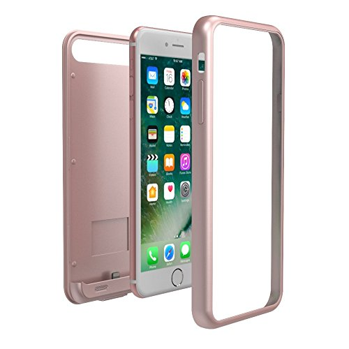 TAMO EDGE 4000 mAh Dual-Purpose Ultra-Slim Protective Extended Battery iPhone 7 Plus Case, Rose Gold (Premium Retail Packaging) by TAMO (Image #2)