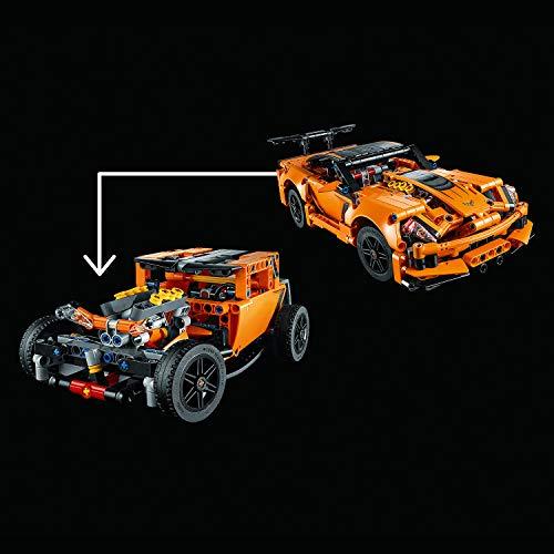 LEGO Technic Chevrolet Corvette Zr1 Replica, 2 in 1 Collectible Car Model, Advanced Construction Set