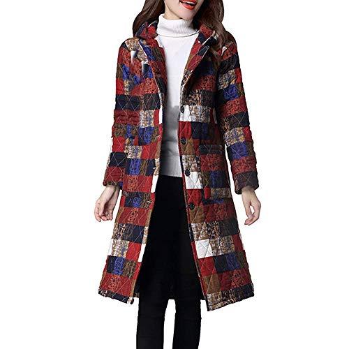 Da Lunga Invernale Uomo Cotone Blu Dimensione Plus Con Imbottito 1 Imbottitura Xxl In Cappotto Parka Piumino Donna Red1 Size colore OqwOfd