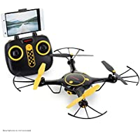 Tenergy Syma X5UW Wifi FPV RC Camera Drone 720P HD Camera, App/Remote Control Quadcopter, Headless Drone for Beginners, 2 Batteries Included (Exclusive Black Yellow Color)