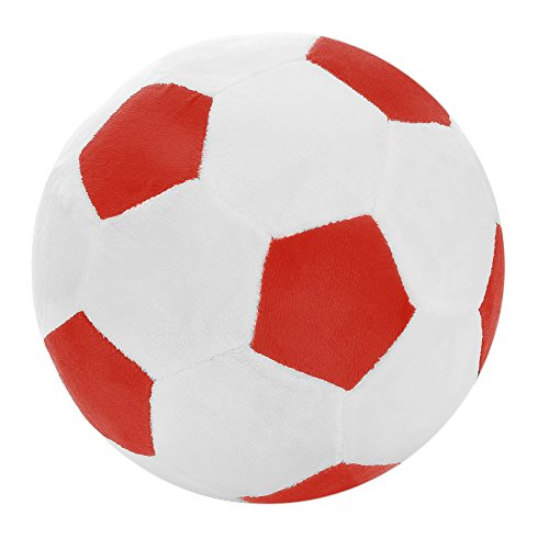 Squeezable Sport Ball (Soccer Ball Pillow Stuffed Fluffy Plush Baby Soccer Ball Soft Durable Soccer Sports Toy Gift For Kids, 8