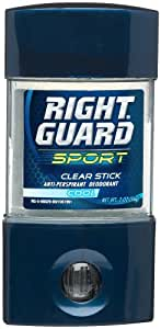 Right Guard Sport Clear Stick Anti-Perspirant Deodorant, Cool, 2-Ounce Tubes (Pack of 6)