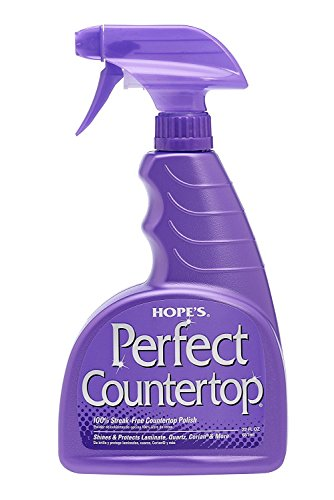 HOPE'S Perfect Countertop Cleaner and Polish, 22-Ounce, Streak-Free, Multi-Surface Cleaning Spray, Safe on Stone sealant, Laminate, CORIAN, Granite, Quartz, Marble, Stone, and More – Pack of 2