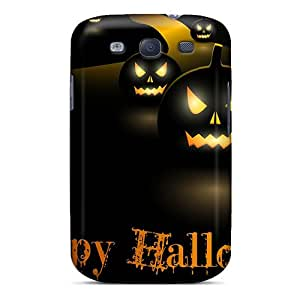 Slim Fit Tpu Protector Shock Absorbent Bumper Smiling Halloween Case For Galaxy S3