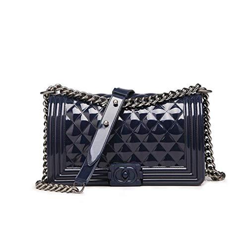 piccola Womens Messenger Square fragranza Gelatine Wybxa Bluegray Rombal Handbag spalla Small New con catena w4ZWaXqA