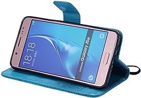 Dooki Galaxy J5 2016 Coque Supporter Flip PU Cuir Pochette Portefeuille Housse Coque Etui pour Samsung Galaxy J5 2016 avec Crédit Carte Tenant Fente F-02