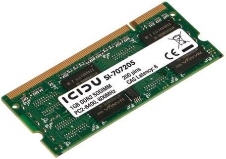 Amazon.com: ICIDU 1GB SODIMM DDR2 800-1G 800MHz Memory ...