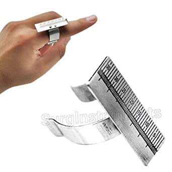 Medidor de tama/ño de dedo barra de cera para tallar anillos regla de dedo y mandril de 23,5 cm