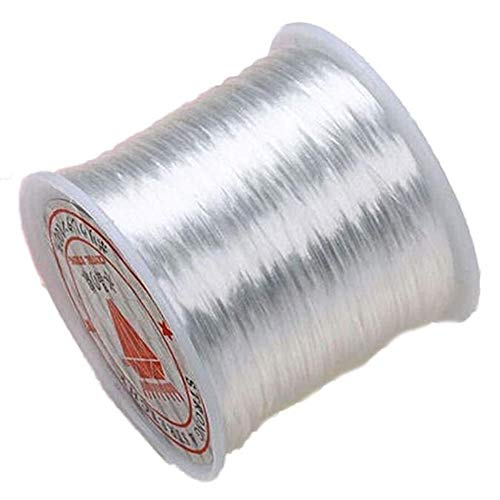 Libobo1PC 80 Yards 40MM White Stretchy Crystal String Cord Thread for Jewelry Making
