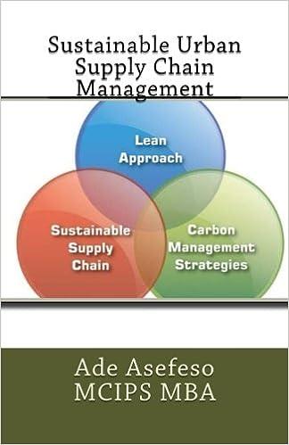 sustainable urban supply chain management ade asefeso mcips mba 9781505907339 amazoncom books