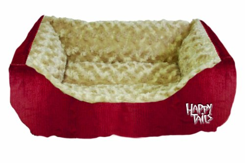 41SCtqRKBqL - Happy Tails Corduroy Cuddler Dog Bed, Dark Pumpkin, 17-Inch by 20-Inch