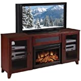 Shaker Style 70  TV Stand with Electric Fireplace