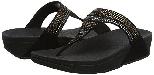 Sandals Toe Nero Fitflop Luxe 1 black Punta thong Donna Sandali Strobe Aperta xqURTwI
