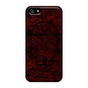 Hot Covers Cases For Iphone/ 5/5s Cases Covers Skin - Android Red