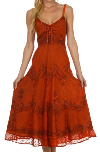 Sakkas-Stonewashed-Rayon-Embroidered-Adjustable-Spaghetti-Straps-Long-Dress