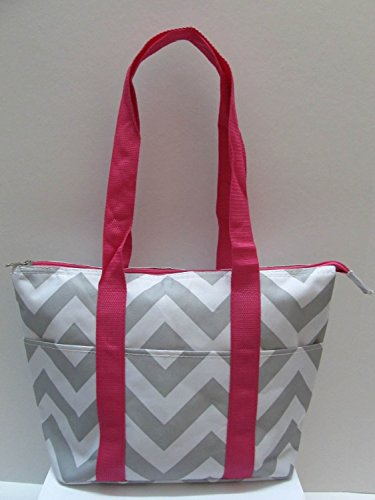 womens-reusable-insulated-lunch-tote-bag-chevron-pink-white