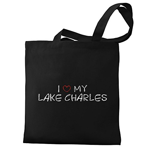 Eddany I love my Lake Charles Canvas Tote Bag (Charles La Shopping Lake)