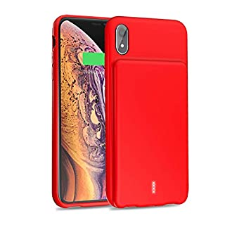 YISHDA Battery Case for iPhone XR, 5000mAh Portable Protective Charging Case for iPhone XR (6.1 inch) Extended Battery Charger Case - Red [18 Month Warranty]