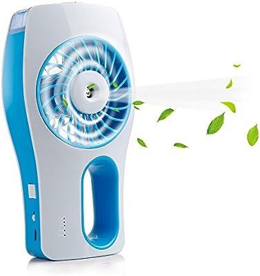 Miniventilador de suelo iEGrow con refrigeración, ventilador manual recargable USB con 3 modos de circulación diferentes (azul): Amazon.es: Bricolaje y herramientas
