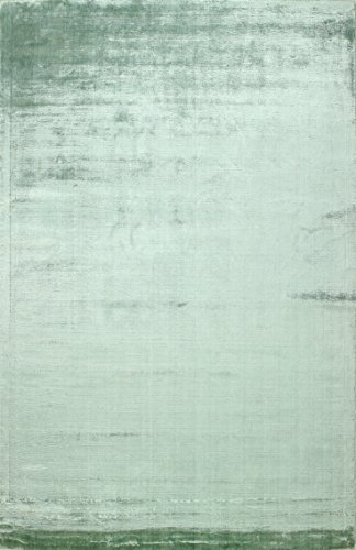 Bashian radiance collection WZ hand loomed 100% banana silk area rug, 3.9' x 5.9', Sea foam (Furniture Weave Banana)