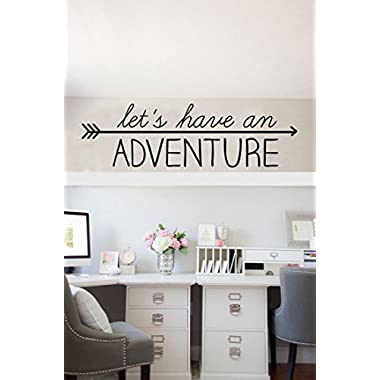 "Let's have an Adventure ~ Wall or Window Decal - 10"" x 32 - Black Or Color Option By: Starlight Decals"