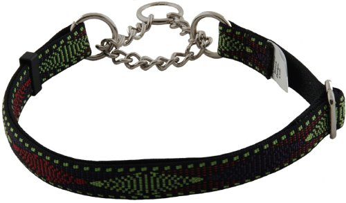 Country Brook Design Neo Navajo Half Check Dog Collar - Large