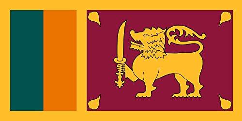 Sri Lanka Landscape (magFlags XXXS Flag Sri Lanka | landscape flag | 0.135m² | 1.5sqft -- 100% Made in Germany -- long lasting outdoor flag)