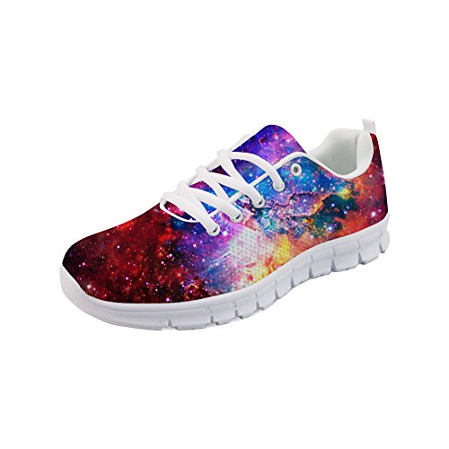 Shoes Women Sneaker 1 up Galaxy Fashion Showudesigns Running Sport Lace Printing Color Iqf4x1nwU0