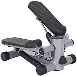 Goplus Mini Stepper Air Climber Step Fitness Exercise Machine with Resistance Band and LCD Display