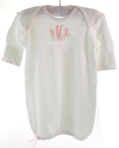 paty-inc-infant-girls-white-cotton-knit-gown-with-pink-trim-newborn