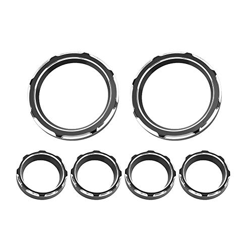 Suuonee Motorcycle Gauge Bezel Trim, 6Pcs Universal Motorcycle Instrument Board Speedometer Gauge Burst Bezel Trim Ring: