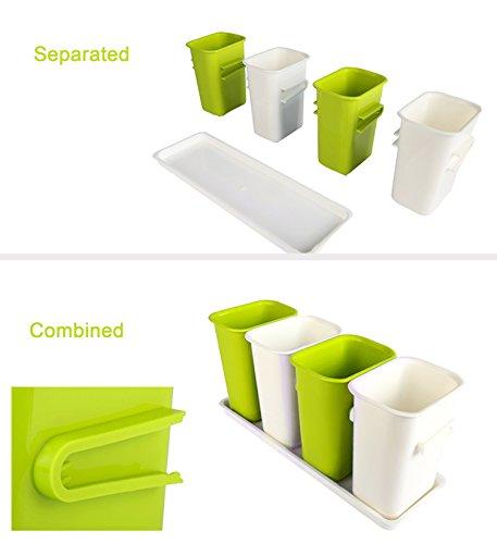Honla interlocking plastic flatware caddy organizer on for Vertical silverware organizer