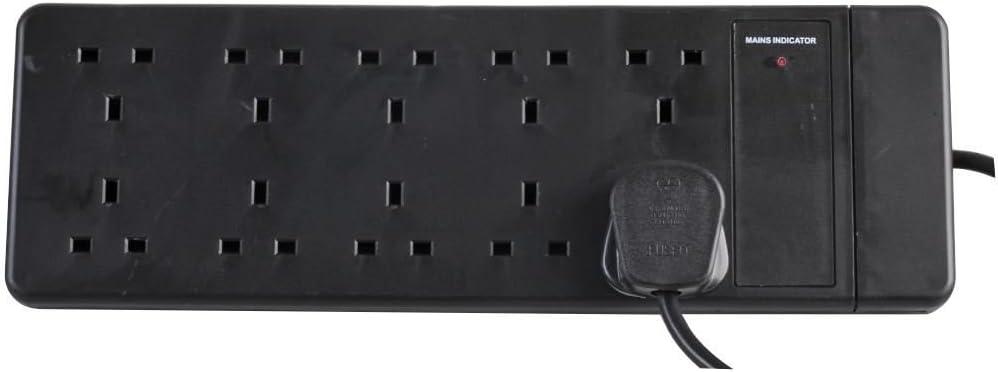Pro-Elec Pro-ELEC 2 M 2 Gang Extension Lead-Black