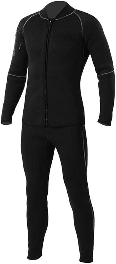 Herren Damen Neopren-Langarm-Jumpsuit-Jacke Tauch-Neoprenanzug-Oberteil Rei/ßverschluss vorne Keenso Tauch-Neoprenanzug-Top
